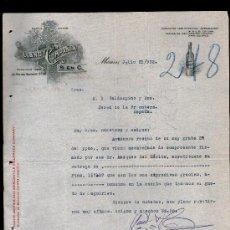 Cartas comerciales: CARTA COMERCIAL. MEXICO. LLANO Y COMPAÑIA. 1922.. Lote 29427776