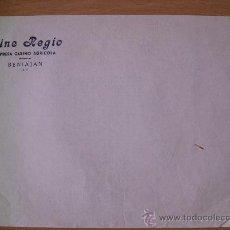 Cartas comerciales: PAPEL CON MEMBRETE DEL CINE REGIO EMPRESA CASINO AGRICOLA DE BENIAJAN - AÑOS 50. Lote 29428270