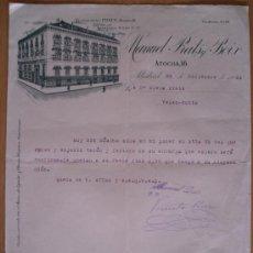 Cartas comerciales: ALMACEN DE TEJIDOS MANUEL PRATS Y BOIX - MADRID - AÑO 1924 - 21,5 X 26,5 CM.. Lote 29428298