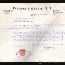 Cartas comerciales: CARTA COMERCIAL. ALCOY. VITORIA Y ARACIL, S.L. 1944.. Lote 29681917