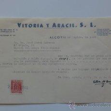 Cartas comerciales: CARTA COMERCIAL. ALCOY. SEPTIEMBRE 1945. VITORIA Y ARACIL, S. L.. Lote 29787148