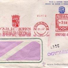 Cartas comerciales: CARTA DE LA CAJA DE AHORROS DE ZARAGOZA ARAGÓN Y RIOJA. 1967. Lote 29856364