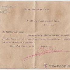 Cartas comerciales: CARTA COMERCIAL. SOCIEDAD AZUCARERA ANTEQUERANA. 1920.. Lote 30026683