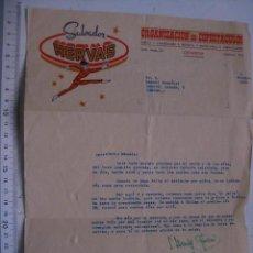 Cartas comerciales: CARTA ESCRITA Y FIRMADA POR SALVADOR HERVAS. ORGANIZACION ESPECTACULOS DE RADIO TEATRO. CATARROJA.. Lote 30417274