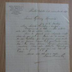 Cartas comerciales: CARTA COMERCIAL. VENEZUELA. PUERTO CABELLO. NOVIEMBRE 1894. GARCIA HERMANOS Y CA.. Lote 30561757