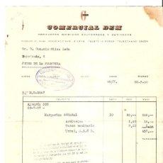 Cartas comerciales: CARTA COMERCIAL. PRODUCTOS QUIMICOS SULFONADOS Y DERIVADOS. COMERCIAL DEM. BILBAO. 1957.. Lote 30576277