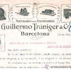 Cartas comerciales: 1913.- CARTA MECANOGRAFIADA PUBLICITARIA DE - NOVEDADES PARA ESCRITORIOS - BARCELONA . Lote 30608194