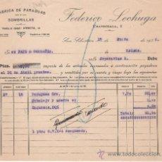 Cartas comerciales: SAN SEBASTIÁN, AÑO 1936. FEDERICO LECHUGA, FÁBRICA DE PARAGUAS Y SOMBRILLAS.. Lote 30680685