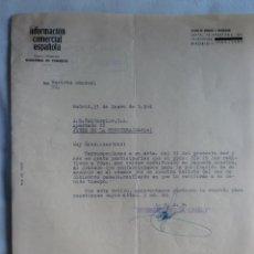 Cartas comerciales: CARTA COMERCIAL. MADRID. ENERO 1964. INFORMACION COMERCIAL ESPAÑOLA.. Lote 30835991