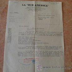 Cartas comerciales: CARTA COMPAÑIA DE SEGUROS LA SUD AMERICANA,SEVILLA,AÑO 1965. Lote 31026324