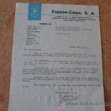 Cartas comerciales: CARTA EMPRESA ESPASA CALPE,SA DE ENVIO DE COMPRA,AÑO 1974. Lote 31026520