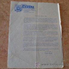 Cartas comerciales: CARTA COMERCIAL AGENCIA DE TRANSPORTE CORRAL,SEVILLA,AÑO 1961. Lote 31026752