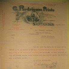 Cartas comerciales: SANTANDER CURTIDOS RODRIGUEZ PRIETO CARTA COMERCIAL 1923. Lote 31341488