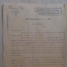 Cartas comerciales: CARTA COMERCIAL. SEVILLA, CONSTANTINA. MARZO 1928. FRANCISCO ROJO. IMPRENTA, LICORES. . Lote 31732251
