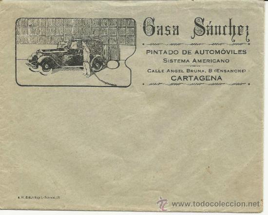ANTIGUA PUBLICIDAD DE CASA SANCHEZ -CARTAGENA (Coleccionismo - Documentos - Cartas Comerciales)