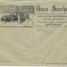 Cartas comerciales: ANTIGUA PUBLICIDAD DE CASA SANCHEZ -CARTAGENA. Lote 32603428