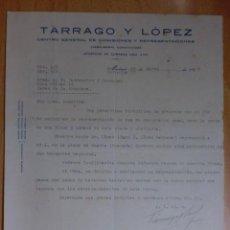 Cartas comerciales: CARTA COMERCIAL. MADRID. MARZO 1927. TARRAGO Y LOPEZ. CENTRO GERAL. DE COMISIONES Y REPRESENTACIONES. Lote 33000545