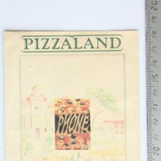 Cartas comerciales: CARTA MENU PIZZERIA PIZZALAND INGLATERRA AÑOS 80 PIZZA HUT. Lote 33681813