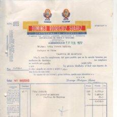Lettere commerciali: 4 CARTAS COMERCIALES DOMINGO RODRÍGUEZ SUAREZ. DESTILERÍA. ALMENDRALEJO ( BADAJOZ ). 1977. Lote 34092467