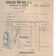 Cartas comerciales: 15 NOTAS DE ENTREGA COMERCIAL VELA REY. DISTRIBUIDOR DE CITRANIA. CÁCERES 1957. Lote 34092538