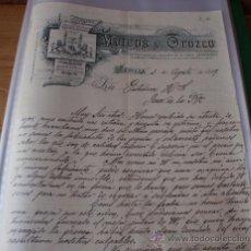 Cartas comerciales: CARTA COMERCIAL MATEOS Y OROZCO : ENCUADERNACION, PAPEL, SOBRES …- SEVILLA 1899. Lote 34230890