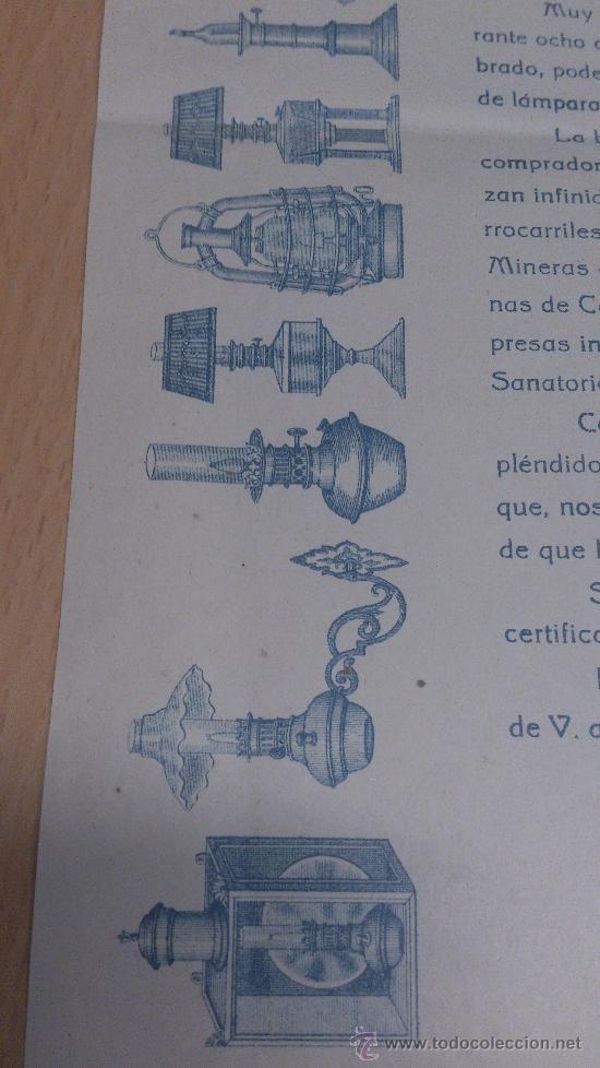 Cartas comerciales: CARTA COMERCIAL ALUMBRADO INCANDESCENTE POR GASOLINA QUINQUES FAROLES PASCUAL M. LAORDEN MADRID - Foto 3 - 35430213