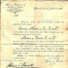 Cartas comerciales: CARTA COMERCIAL DE ALONSO Y FUENTE A HNOS. DOMÉNECH, BADALONA. SELLO 2 CENTAVOS CUBA. LA HABANA 1906. Lote 35537828