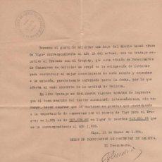 Cartas comerciais: CARTA DE UNIÓN FABRICANTES DE CONSERVAS ( VIGO ) CON DIARIO FARO DE VIGO: TRATADO EXPORTACIÓN. Lote 35651608