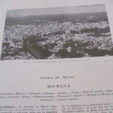 Cartas comerciales: MURCIA SEPARATA SOBRE LA PROVINCIA AÑOS 30 MUY ILUSTRADA AGUILAS CARTAGENA MAZARRON LORCA CARAVACA . Lote 35592029