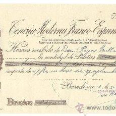 Cartas comerciales: MOLLET DEL VALLES (BARCELONA)-CENERIA MODERNA FRANCO-ESPAÑOLA S.A.-FABRICA Y ALMACENES-AÑO 1944. Lote 36175180
