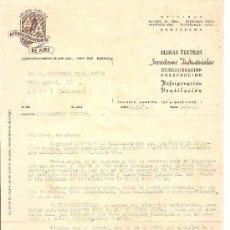 Cartas comerciales: BARCELONA-ADA-ACONDICIONAMIENTOS DE AIRE-AÑO 1943-ANCHO 21 CM-ALTO 27 CM. Lote 36175814