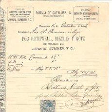 Cartas comerciales: BARCELONA-ROTHWELL, DIETLIN Y GÖTZ-MAQUINAS,DEPOSITO DE PIEZAS SUELTAS Y MATERIALES PARA FABRICARLAS. Lote 36234787