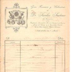 Cartas comerciales: MADRID-DR. SANCHEZ SANTANA-GRAN FARMACIA Y LABORATORIO-PRINCIPIO SIGLO XX-ANCHO 21 CM-ALTO 26,50 CM. Lote 36250537