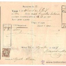 Cartas comerciales: MADRID-RICARDO MARTIN FERNANDEZ-RECIBO-AÑO 1887-ANCHO 23 CM-ALTO 16 CM. Lote 36250629