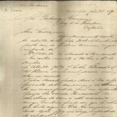 Cartas comerciales: CARTA COMERCIAL DE A. ERMEN. PUERTO-CABELLO, VENEZUELA. 1890. Lote 36902373
