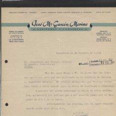 Cartas comerciales: TERUEL. LA CODOÑERA. *JOSÉ Mª GASCÓN MERINO - ACEITUNAS Y CONSERVAS* FECHADA 1951.. Lote 36911896