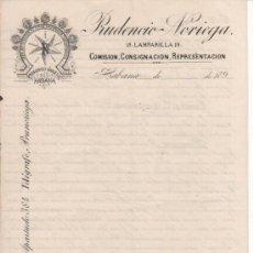 Cartas comerciales: 5 ANTIGUAS CARTAS COMERCIALES PRUDENCIO NORIEGA: IMPORTADOR DE VINOS LA HABANA ( CUBA ). SIGLO XIX. Lote 37031055