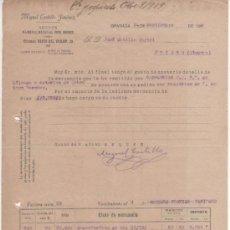 Cartas comerciales: 3 CARTAS COMERCIALES MIGUEL CASTILLO JIMÉNEZ: ABONOS Y PRIMERAS MATERIAS. GRANADA 1919 . Lote 37251682