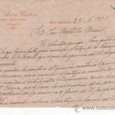 Cartas comerciales: 2 CARTAS COMERCIALES JOSÉ ARIZA CENTENO: PROCURADOR DE MONTEFRÍO ( GRANADA ). AÑO 1921. Lote 37333035