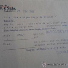 Cartas comerciales: CARTA COMERCIAL . Lote 37316770