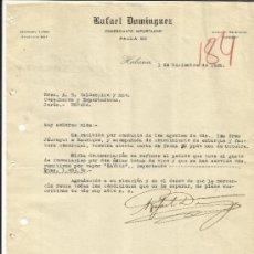 Cartas comerciales: CARTA COMERCIAL DE RAFAEL DOMÍNGUEZ. COMERCIANTE IMPORTADOR. LA HABANA. CUBA. 1920. Lote 37438775