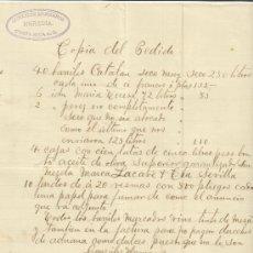 Cartas comerciales: CARTA COMERCIAL DE GONZÁLEZ HERMANOS. HEREDIA. COSTA RICA. 1892. Lote 37580887