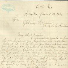Cartas comerciales: CARTA COMERCIAL DEFRANCISCO GONZÁLEZ Y HERMANOS. HEREDIA. COSTA RICA. 1892. Lote 37580924
