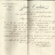 Cartas comerciales: CARTA COMERCIAL DE JUAN CASTAÑO. HABANA. CUBA. 1899. Lote 37583543