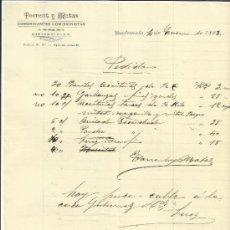 Cartas comerciales: CARTA COMERCIAL DE TORRENT Y MATAS. COMERCIANTES MINORISTAS. GUATEMALA. GUATEMALA. 1893. Lote 37597924