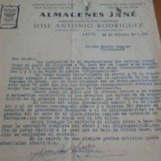Cartas comerciales: CARTA COMERCIAL EN LEON EN 1940. Lote 37651363