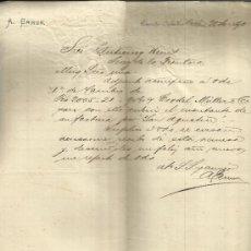 Cartas comerciales: CARTA COMERCIAL DE A. ERMEN. PUERTO-CABELLO. VENEZUELA. 1890. Lote 37686660