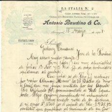 Lettres commerciales: CARTA COMERCIAL DE ANTONIO BAUDINO & CO. GUAYAQUIL. ECUADOR. 1908. Lote 37736653