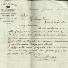 Lettres commerciales: CARTA COMERCIAL DE LA BOLA DE PLATA. LUIS MORCHIO. GUAYAQUIL. ECUADOR. 1910. Lote 37736701