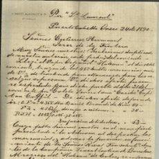 Cartas comerciales: CARTA COMERCIAL DE S. MARTI ALEGRETT & Cº. PUERTO CABELLO. VENEZUELA. 1890. Lote 37851236